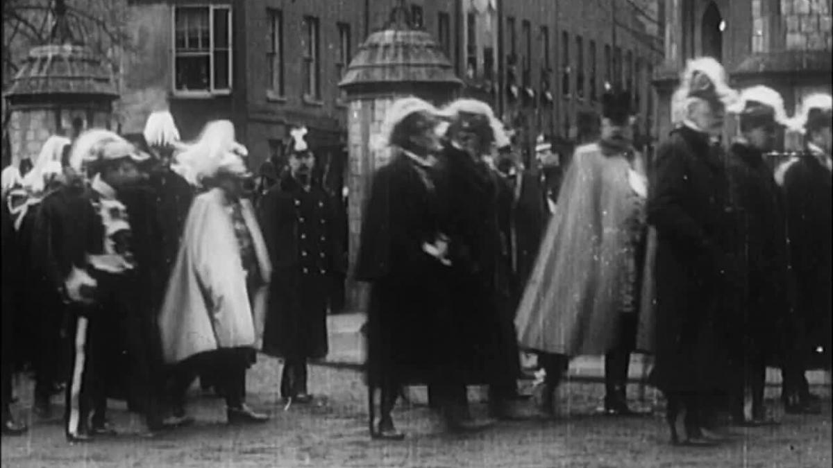 Queen Victorias funneral procession 1901.   Isle of wight