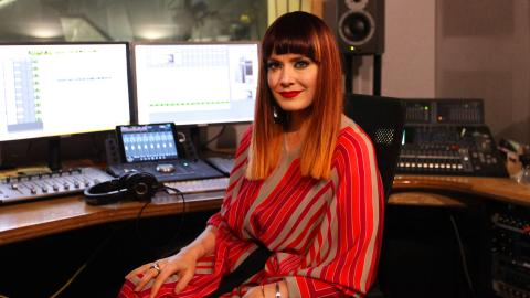 Ana Matronic in the studio