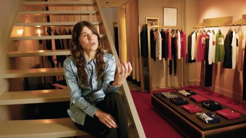 Fashion designer Bella Freud