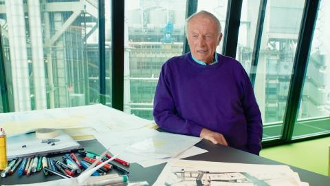 Richard Rogers at his desk