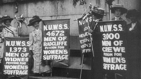 Mass Meeting of Suffragettes