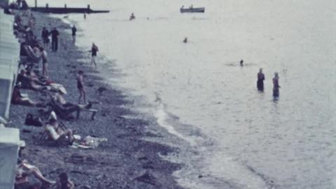 Criccieth Beach, Aug. 1938