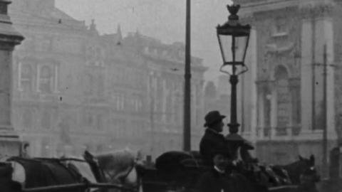 Panorama of College Green, Dublin (1902)