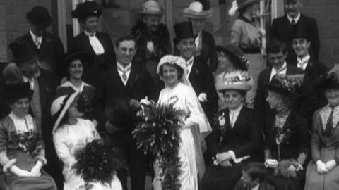 Wedding of G.A. Cheetham and Miss E.M. Lawson