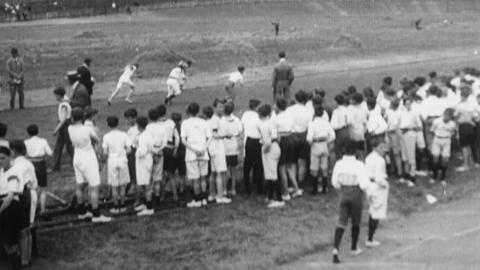Olympic Games  4000 Children of South London Schools Hold Sports Meeting at the Crystal Palace