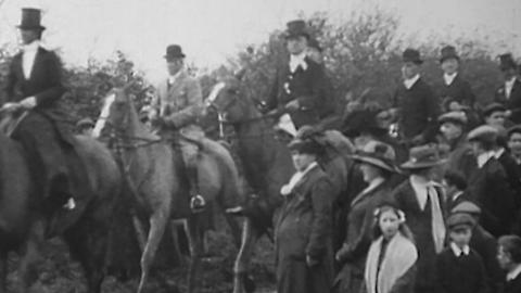 The Meet of the Quorn Hounds at Kirby Gate 1912