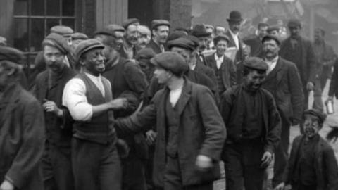 Miners Leaving Pendlebury Colliery (1901)