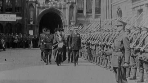 Lord Kitchener at the Guildhall  The Great War Minister Received by the Lord Mayor at the Ancient  City Hall for the Opening of a Three Weeks' Recruiting Cam  Aign  Warwick Bioscope Chronicle No. 261-2