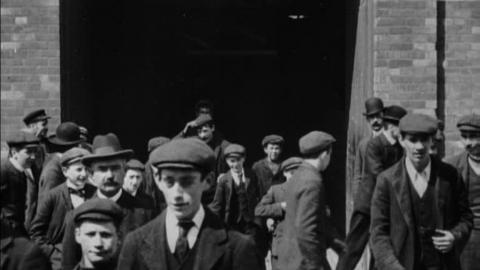 Workers Leaving Lee Boot Factory- Dwyer & Co. Ltd. (1902)
