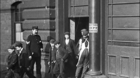 Employees Leaving Yates, Haywood & Co. Foundry, Rotherham (1900)