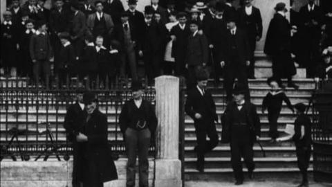 Congregation Leaving St Patrick's Church in Cork (1902)