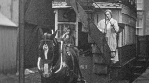The Last Horse-Drawn Tram in Ireland