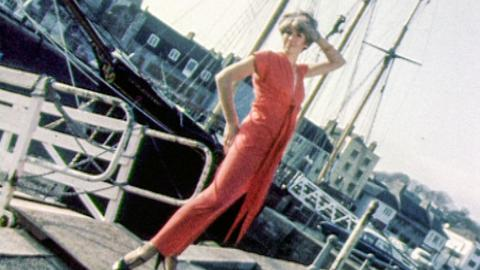 Maxi-dress fashion on Plymouth's Barbican