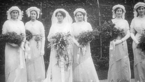 Wedding of Miss Carrie Alexander, Faversham 1913