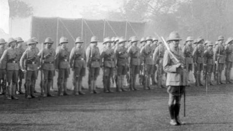 5th Calcutta Battalion: Presentation of Colours by H.E. The Viceroy