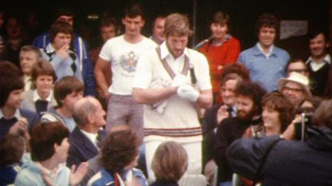 Ian and Viv at Somerset CCC