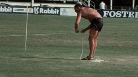 Cricket Ground Preparations for Portsmouth Cricket Week