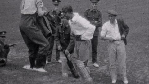 Soldiers Play Cricket near Guildford