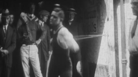 Ritchie, The World's light-weight Boxing Champion, Training for His Fight with Freddy Welsh at Olympia.