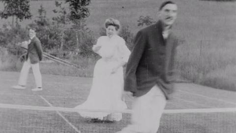 Jumping over Tennis Net