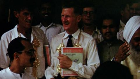 Awards Presented to Edmund Hillary and Tenzing Norgay in India