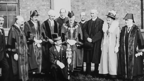 Camberwell - Dedication of the Borough Mace at the Licensed Victuallers Asylum Chapel, Asylum Road, S.E.