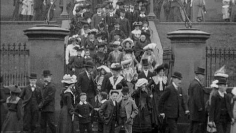 Congregation Leaving St Mary's Church, Dumfries (c.1901)