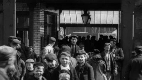 Workers Leaving Gossage's Soap Works, Widnes (1901)