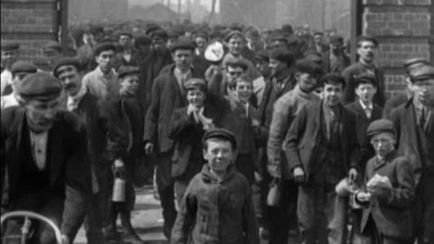 Employees Leaving Messrs Vickers, Sons & Maxim in Barrow (1901)