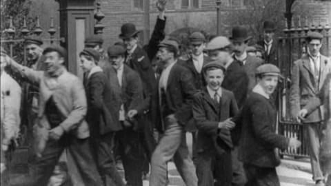 Employees Leaving Furness Railway Works, Barrow (1901)