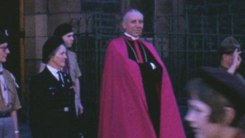 De La Salle School, Cardiff: prize-giving, flag-bearing and the Archbishop of Cardiff