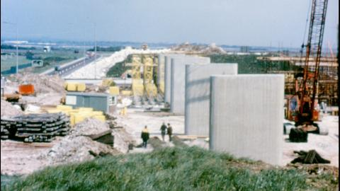 The Building of the Eastern Road flyover on the M27