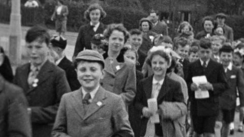 Somercotes Parish Church Sunday School Procession 1953