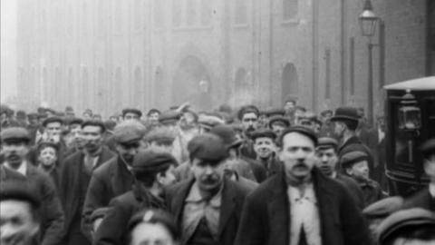 Employees Leaving Fowler's Ironworks, Leeds (1901)