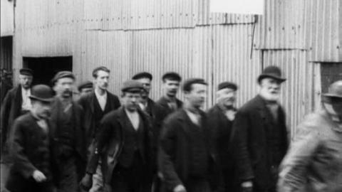 Workers Leaving Bamford's Works, Moseley (1900)