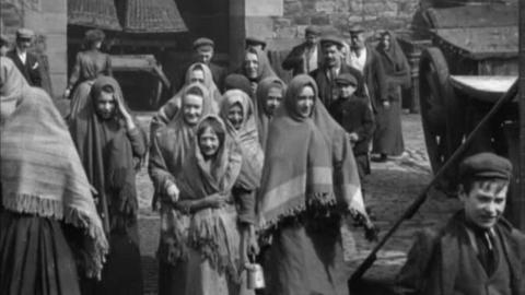 Employees Leaving Olive Mill, Darwen (1900)