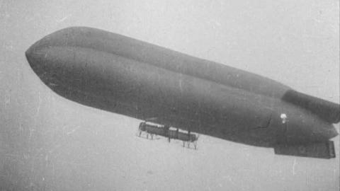 Parachute Descent from an Airship
