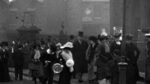 Congregations Leaving St. Hilda's Church, Middlesbrough (1902)