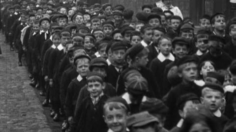 Procession of Children at Tyldesley Church School (1901)