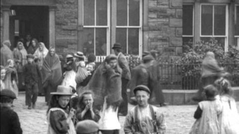 Workpeople Leaving Ordnance Mill, Blackburn (1900)