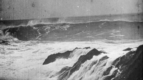 Rough Seas Breaking on Rocks