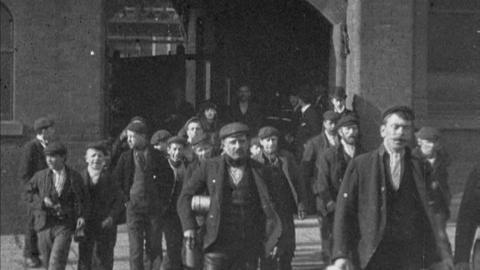Workers Leaving Factory in Barrow (1901)