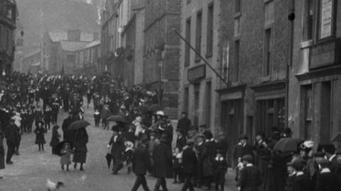 Mayor's Sunday at St Mary's Church, Clitheroe (1912)