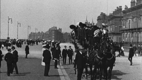 Panoramic View of Southport Promenade (1902)