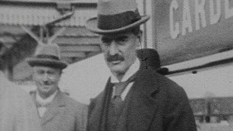 Neville Chamberlain Opens New Railway Station