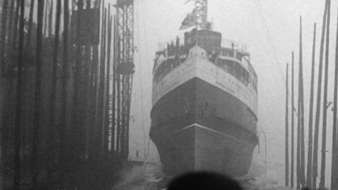 "Launch of Canadian Pacific Steamship ""Princess Elizabeth"""