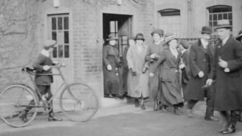 Workers Leaving Kodak Factory