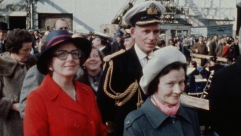 Launch of HMS Exeter, Neptune Yard, 17.15 Tuesday 25th April, 1978