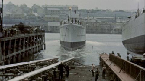 Launch of the Queen Elizabeth; Launch of HMS Edinburgh; Launch of Dominion Monarch