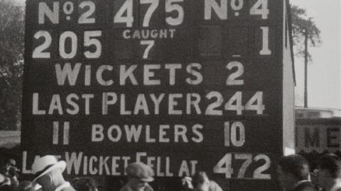 Surrey Plays Australia at the Oval in 1934
